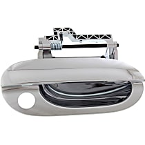 Front, Passenger Side Exterior Door Handle, Chrome