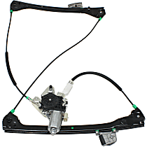 Front, Passenger Side Power Window Regulator, With Motor, Convertible/Coupe