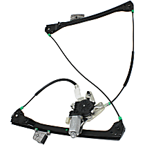 Front, Driver Side Power Window Regulator, With Motor, Convertible/Coupe