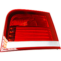 Driver Side, Inner Tail Light, With bulb(s) - Clear & Red Lens