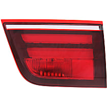 Passenger Side, Inner Tail Light, With bulb(s) - Clear & Red Lens