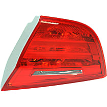 Passenger Side, Inner Tail Light, With bulb(s) - Red Lens, Sedan