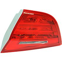 Passenger Side, Inner Tail Light, With bulb(s) - Red Lens, Sedan