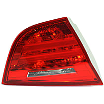 Driver Side, Inner Tail Light, With bulb(s) - Red Lens, Sedan