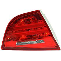 Driver Side, Inner Tail Light, With bulb(s) - Red Lens, Sedan