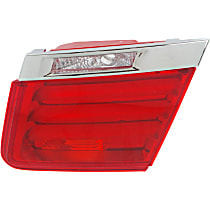 Passenger Side, Inner Tail Light, Without bulb(s) - Clear & Red Lens