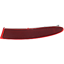 CAPA Certified Rear, Passenger Side Bumper Reflector