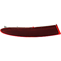 CAPA Certified Rear, Driver Side Bumper Reflector