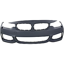 Front Bumper Cover, Primed - w/ M Sport Line Pkg., w/o Park Sensor, w/ Washer Holes, w/ Fog Light Holes, Exc. M4 Model, CAPA CERTIFIED
