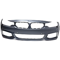 Front Bumper Cover, Primed - w/ M Sport Line, w/ Park Distance Control & Washer Holes, w/ Fog Light Holes, CAPA CERTIFIED