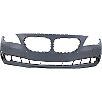 Bumper Cover - Front, 1 Piece, Primed, For Models Without M Package, With Park Distance Control (w/ Side View Camera)