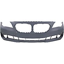Front Bumper Cover, Primed - w/o M Pkg., w/ Park Distance Control, w/o Side View Cam, w/ Fog Light Holes