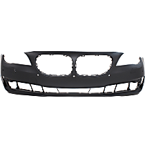 Bumper Cover - Front, 1 Piece, Primed, For Models Without M Package, With Park Distance Control (w/o Side View Camera), CAPA Certified