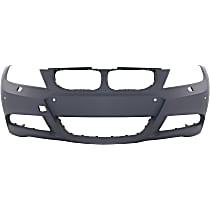 Front Bumper Cover, Primed - w/ M Pkg, Sedan (06-11)/Wagon (06-12), w/ HLW Holes & PDC Sensor Holes, w/ Fog Light Holes