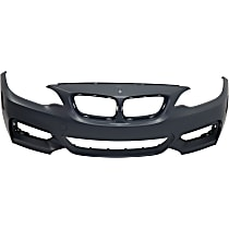 Front Bumper Cover, Primed, Convertible - w/o Headlight Washer Holes