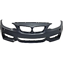 Front Bumper Cover, Primed, Coupe/Convertible - w/ Headlight Washer Holes, w/o Parking Air Sensor Holes