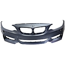 Front Bumper Cover, Primed - Coupe(M235i)/Convertible, w/ Headlight Washer Holes, w/ Sport Pkg.