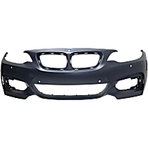 Front Bumper Cover, Primed - w/o Headlight Washer Holes, w/ M Sport Line