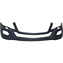 Front Bumper Cover, Primed - w/ Park Sensor & Headlight Washer Holes, w/o Sport Pkg.