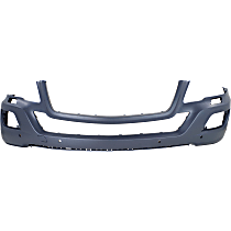 Front Bumper Cover, Primed - w/ Park Sensor & Headlight Washer Holes, w/o Sport Pkg., CAPA CERTIFIED
