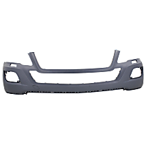 Front Bumper Cover, Primed - w/o Park Sensor Holes, w/ Headlight Washer Holes, w/o Sport Pkg.