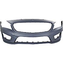 Front Bumper Cover, Primed - w/ Park Sensor Holes & AMG Styling Pkg.