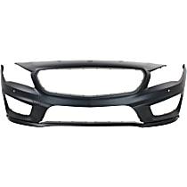 Front Bumper Cover, Primed - w/ Park Sensor Holes & AMG Styling Pkg., CAPA CERTIFIED