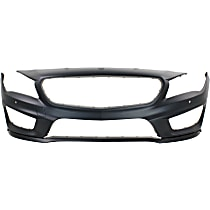 Front Bumper Cover, Primed - w/ Park Sensor Holes & AMG Styling Pkg., CAPA CERTIFIED