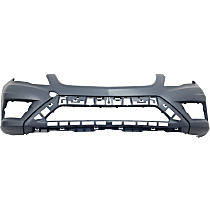 Front Bumper Cover, Primed - w/o Park Sensor & Headlight Washer Holes, w/ AMG Styling Pkg.