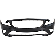Front Bumper Cover, Primed - w/o Park Sensor Holes & AMG Styling Pkg., CAPA CERTIFIED