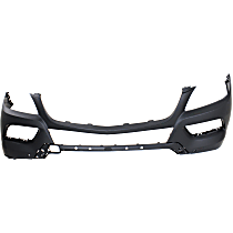Front Bumper Cover, Primed - w/ Park Sensor Holes, w/o Headlight Washer Holes & AMG Styling Pkg., CAPA CERTIFIED