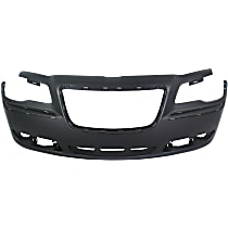 Bumper Cover - Front, 1 Piece, Primed, For Models With Adaptive Cruise Control, Without Parking Aid Sensors, CAPA Certified