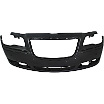 Bumper Cover - Front, 1 Piece, Primed, For Models With Adaptive Cruise Control and Parking Aid Sensors