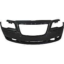 Bumper Cover - Front, 1 Piece, Primed, For Models With Adaptive Cruise Control and Parking Aid Sensors, CAPA Certified