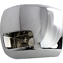Front, Driver Side Plastic Bumper End, Chrome