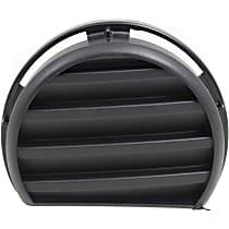 Front, Passenger Side Fog Light Cover, Textured Black
