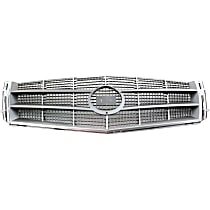 Grille Assembly - Chrome Shell with Painted Silver Gray Insert, Except V Model
