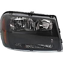 Headlight - Passenger Side, Black Trim, With Bulb(s)