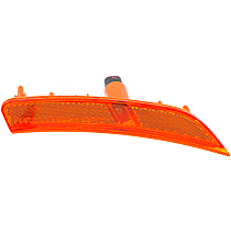CAPA Certified Front, Driver Side Side Marker, With bulb(s)