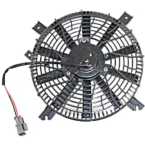 OE Replacement A/C Condenser Fan - Fits 1.6L/2.0L, Denso-type, Mounts Behind Grille