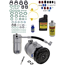 A/C Compressor, With clutch, 4-Groove Pulley; 8cyl
