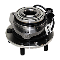 Front, Driver or Passenger Side Wheel Hub and Bearing Assembly, For 4WD or AWD, 4-Wheel ABS