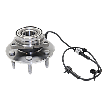 Front, Driver or Passenger Side Wheel Hub and Bearing Assembly, For 4WD or AWD, with Passive ABS Sensor