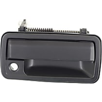 Front, Passenger Side Exterior Door Handle, Smooth Black