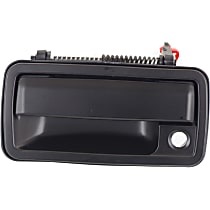 Front, Driver Side Exterior Door Handle, Smooth Black