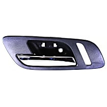 Interior Door Handle - Front, Driver Side, Black Bezel with Chrome Lever, with Small Hole for Power Window Switch