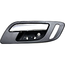 Front, Passenger Side Interior Door Handle, Black bezel with chrome lever