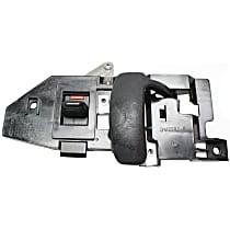 Front, Driver Side Interior Door Handle, Black