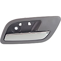 Interior Door Handle - Rear, Passenger Side, Gray Bezel with Chrome Lever