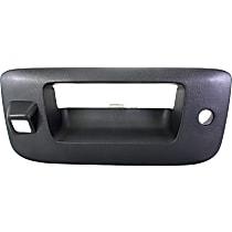 Tailgate Handle Bezel - Textured Black, With Key Hole and Camera Hole